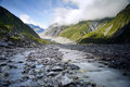 Franz josef glacier new zealand Stock Photo