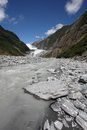 Franz josef glacier new zealand landscape in southern alps mountains Royalty Free Stock Photos