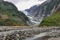 Franz Josef Glacier in New Zealand Royalty Free Stock Photo