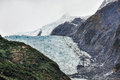 Franz josef glacier in new zealand view of Stock Photo