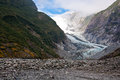 Franz josef glacier in westland national park of new zealand s south island southern alps mountains Stock Photo