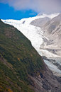 Franz josef glacier in westland national park of new zealand s south island southern alps mountains Royalty Free Stock Image