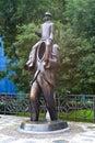 Franz kafka momument prague czech republic september monument to famous writer in jewish quarter of prague the work of czech Stock Image