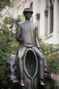 Franz Kafka statue Royalty Free Stock Image