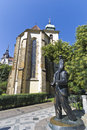 Franz Kafka statue in Prague Royalty Free Stock Photo