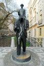 Franz Kafka Statue - Prague, Czech Republic Royalty Free Stock Photo