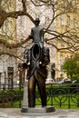 Franz Kafka statue in Prague Royalty Free Stock Photo