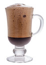 Frappe coffee shot closeup isolated on a white background Royalty Free Stock Images