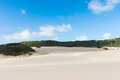 Fraser Island desert sand dunes in Australia Royalty Free Stock Photo