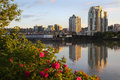 Fraser River, New Westminster Skyline, BC Royalty Free Stock Photo