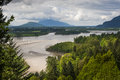 Fraser River Valley Royalty Free Stock Photo