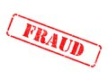 Fraud - Inscription on Red Rubber Stamp. Stock Photography