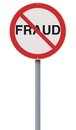 Fraud not allowed a modified road sign on Royalty Free Stock Photography