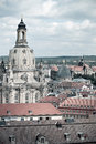Frauenkirche and roofs of dresden church our lady Stock Images