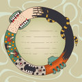 Freaky wreath illustration good for postcards or email design etc Royalty Free Stock Photography