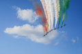Frecce tricolore tricolor arrows Royalty Free Stock Photo