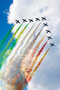 Frecce Tricolori demo team Royalty Free Stock Photo