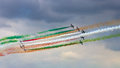 Frecce tricolori volkel the netherlands june the italian demonstration team performing at the dutch air force open day on june in Royalty Free Stock Images