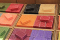 Frech soap at a market stall Royalty Free Stock Photo