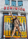 Freddie Mercury statue above Dominion Theatre Stock Image