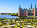 Frederiksborg Castle, Hillerod, Denmark Royalty Free Stock Photo