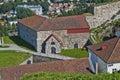 Fredriksten fortress (the large powderhouses) Royalty Free Stock Photos