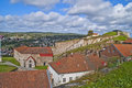 Fredriksten fortress (the large powderhouses) Royalty Free Stock Photo