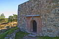 Fredriksten fortress (large tower) Royalty Free Stock Images