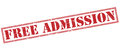 Free admission red stamp Royalty Free Stock Photo