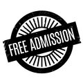 Free Admission rubber stamp Royalty Free Stock Photo