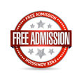 Free admission seal illustration design Royalty Free Stock Photo