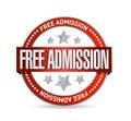 Free admission seal illustration design Royalty Free Stock Photo