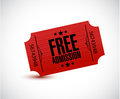Free admission ticket illustration design Royalty Free Stock Photo