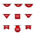 Free advertising badges Royalty Free Stock Photo