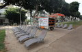 Free Break Chairs and Books in Tel Aviv Royalty Free Stock Photo