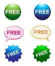 Free buttons simple illustration of on white background Royalty Free Stock Photography