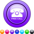 Free call circle button. Royalty Free Stock Image