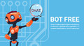 Free Chat Bot, Robot Virtual Assistance Element Of Website Or Mobile Applications, Artificial Intelligence Concept
