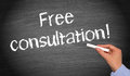 Free consultation! Royalty Free Stock Photo