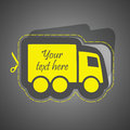 Free delivery business illusrtation usable for different business design Royalty Free Stock Photo