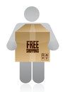 Free Delivery Concept Royalty Free Stock Photography