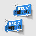 Free delivery, free shipping labels Royalty Free Stock Photos