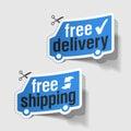 Voľný dodávka voľný doprava etikety