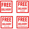 Free Delivery label Royalty Free Stock Photo