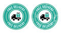 Free delivery retro grunge badge Royalty Free Stock Photo
