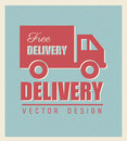 Free delivery seal over blue background vector illustration Royalty Free Stock Photos