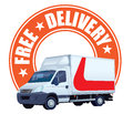 Free delivery sign Stock Images