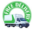 Free delivery sign Stock Photo