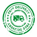 Free delivery stamp Royalty Free Stock Photo