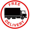 Free delivery symbol Royalty Free Stock Images